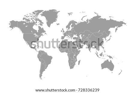 Gray world map #728336239