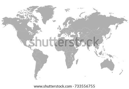 Gray world map #733556755