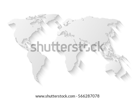 Plantilla de mapa mundial descargue grficos y vectores gratis gray world map isolated on white background with long shadow gumiabroncs Image collections