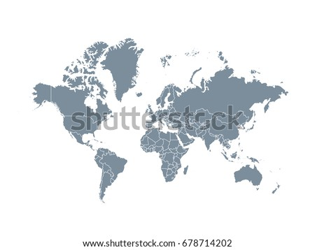 Worldmap silhouette free vector download free vector art stock gray world map political isolated on white background gumiabroncs Image collections