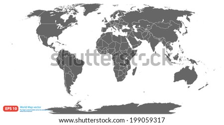 Vector de mapa de amrica del norte descargue grficos y vectores gray world map vector format gumiabroncs Images