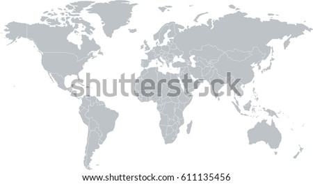 World countries map vector download free vector art stock gray world map with countries gumiabroncs Image collections