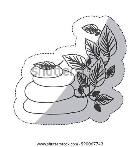 grayscale contour sticker of