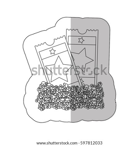 grayscale contour sticker of