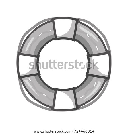 grayscale life buoy object to
