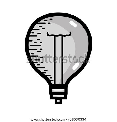 grayscale power bulb light and
