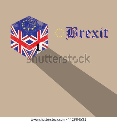 great britain brexit cubic flag