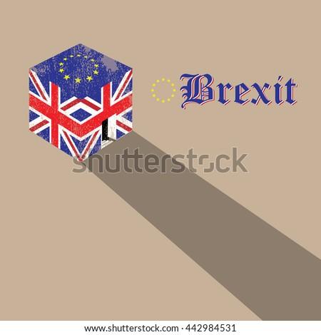great britain brexit cubic flag