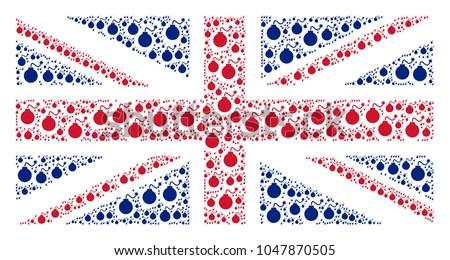 great britain flag concept