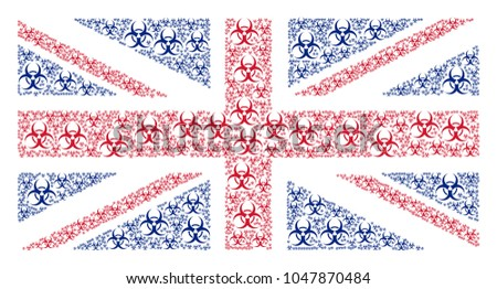 great britain flag mosaic