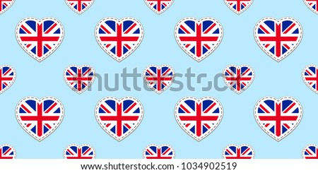 great britain flag seamless