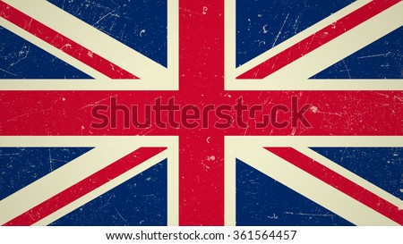 great britain flag with grunge