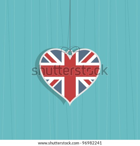 great britain heart hanging