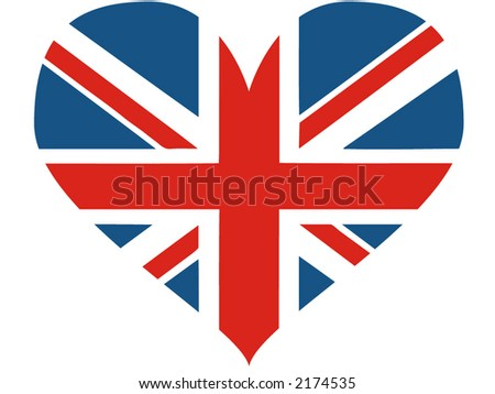Great Britain heart - vector illustration - stock vector