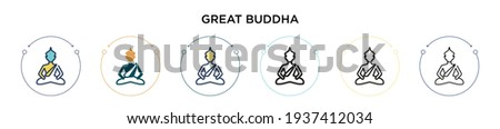 great buddha icon in filled