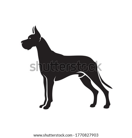 Great Dane dog - isolated vector illustration  Foto d'archivio ©