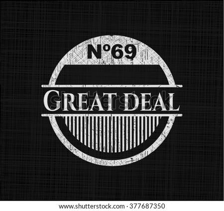 Great Deal chalkboard emblem