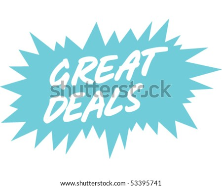 Great Deals Sign Blue