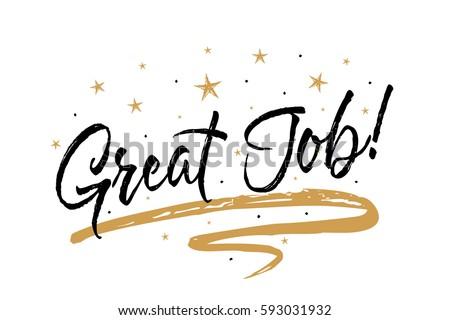great job card  banner....