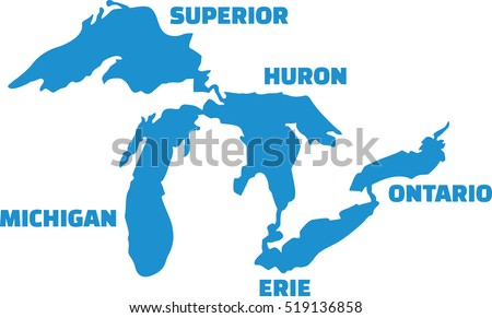 great lakes silhouettes with