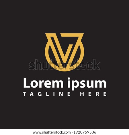 great line modern V logo initial Letter design vector graphic concept Stock fotó ©