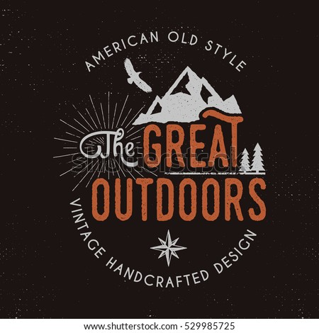 great outdoors badge and...