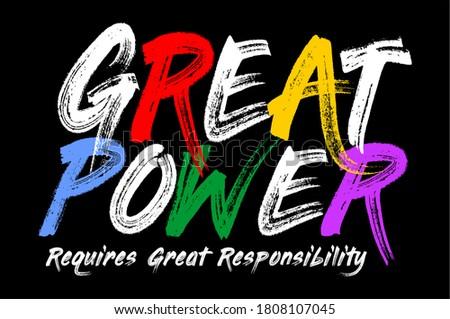 great power typography design