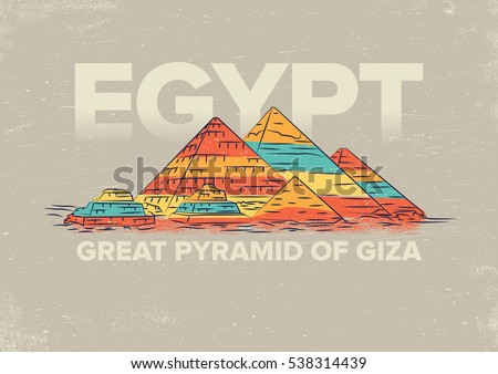 great pyramid of giza vector...