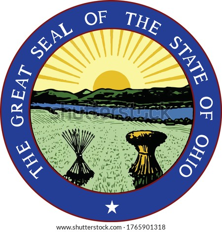 Great Seal of US Federal State of Ohio (The Buckeye State)
