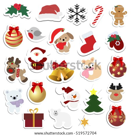 Christmas Labels And Stickers Download Free Vector Art Stock