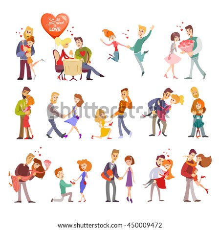 great set of happy cartoon