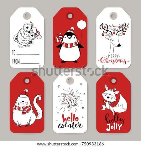 great set of six vector holiday