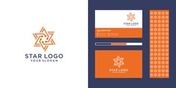 Great star logo and business card design