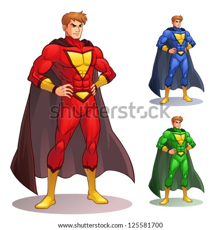 Great Superhero Image of superhero standing with pride and confident EPS8 vector file