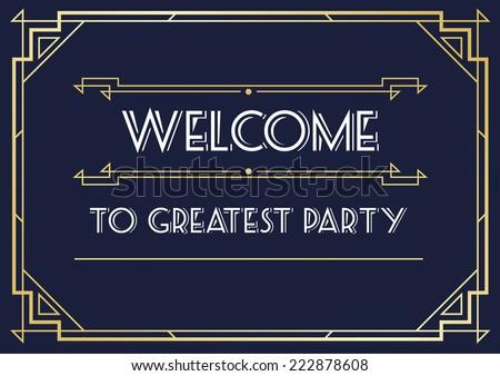 Art deco save the date vector download vetores e grficos gratuitos great vintage invitation sign in art deco or gatsby nouveau epoch 1920s gangster era vector stopboris Image collections