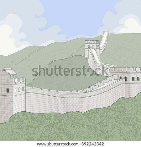 great wall of china a line