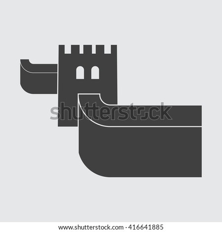 great wall of china icon  great