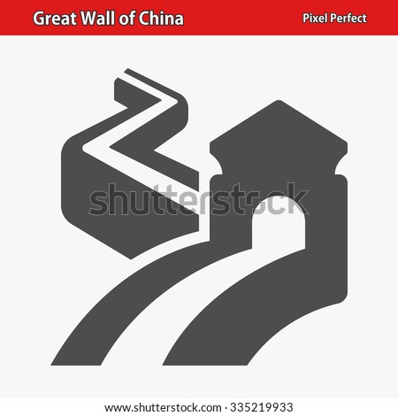 great wall of china icon