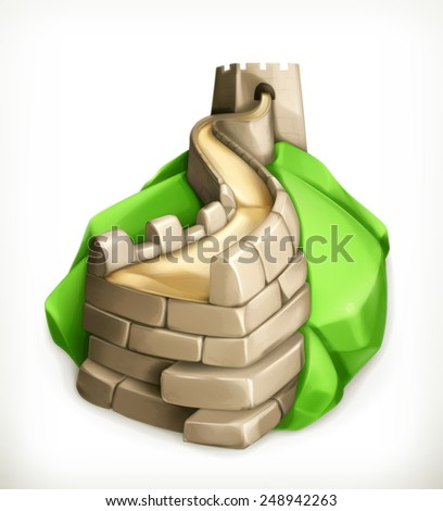 great wall of china  vector icon
