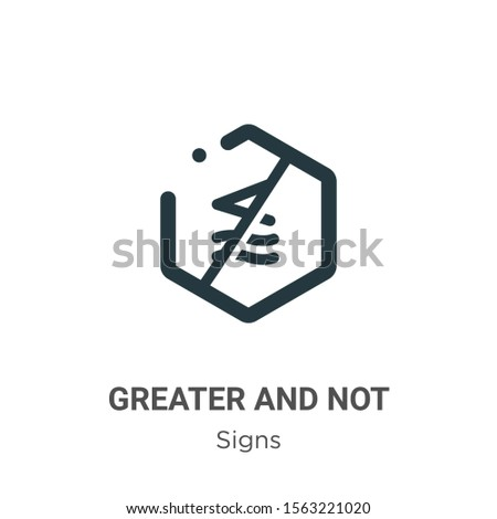 Greater and not approximately equal to symbol vector icon on white background. Flat vector greater and not approximately equal to symbol icon symbol sign from modern signs collection for mobile