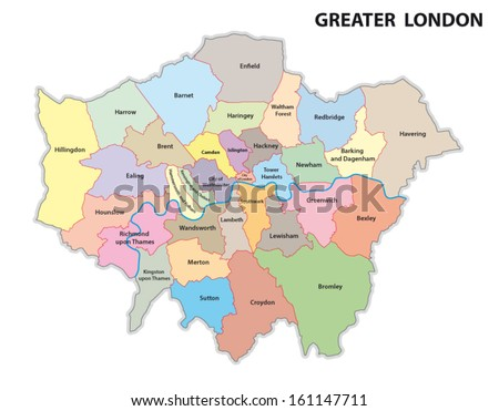London Map Vector Download Free Vector Art Stock Graphics Images - London map manchester