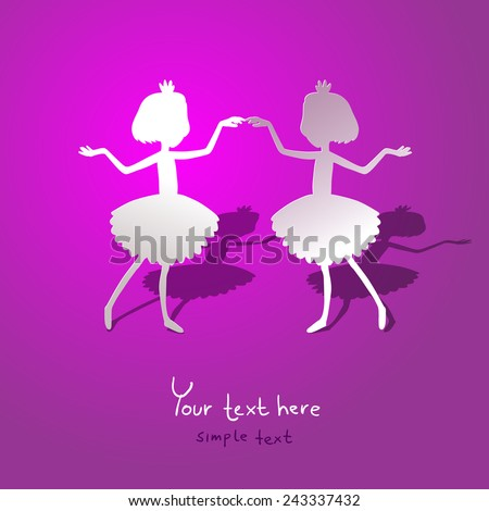 greating card with silhouette
