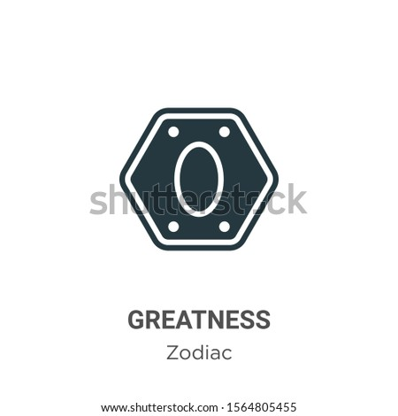 Greatness vector icon on white background. Flat vector greatness icon symbol sign from modern zodiac collection for mobile concept and web apps design.