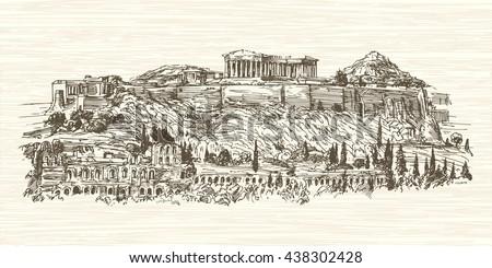 greece  athens  acropolis hand