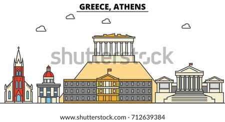 greece  athens city skyline