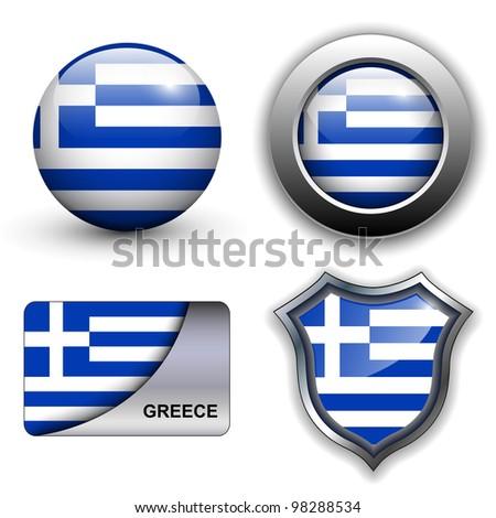 Greece flag icons theme.