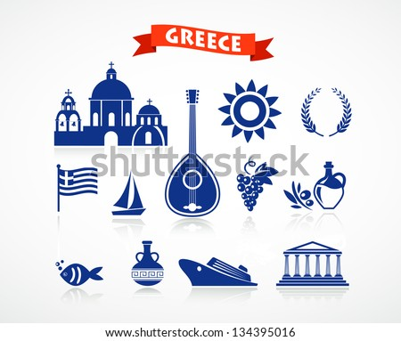 greece   icon set