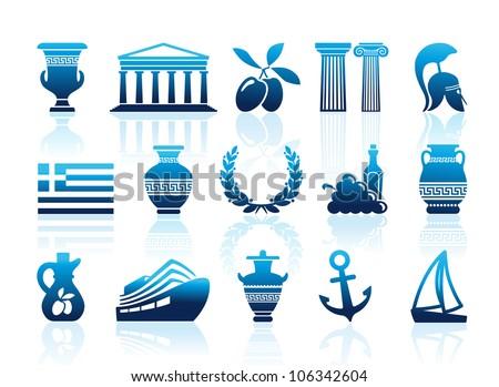 Greece icons