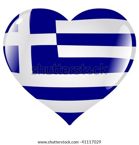 Greece  in heart - stock vector
