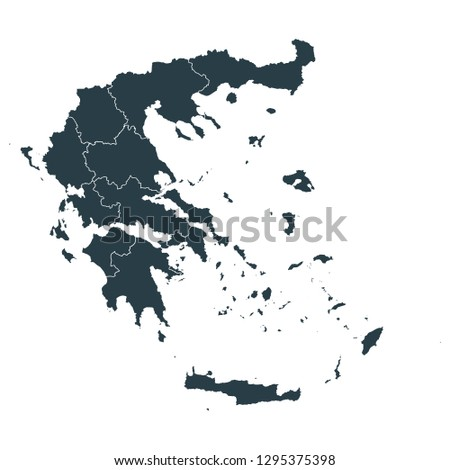 greece map on white background